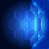 Background blue technology concept for website. vector illustration Royalty Free Stock Photos