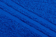 Background of blue terry towels Stock Photo