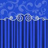 Background blue theater curtains Royalty Free Stock Image