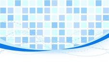 Background - blue tiles Stock Photography
