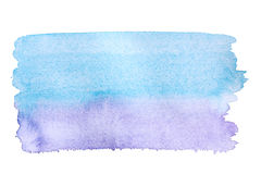 Background blue violet watercolor art Stock Photography