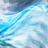 Background with blue water wave Stock Photos