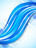Background with blue wave. Abstract colorful illustration Royalty Free Stock Images
