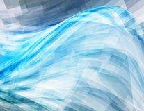 Background with blue wave. Vector Stock Images