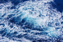 Background blue waves of the sea. Beauty world Royalty Free Stock Photography