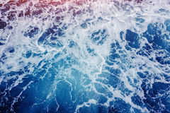 Background blue waves of the sea. Beauty world Royalty Free Stock Photo