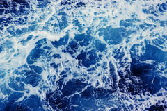 Background blue waves of the sea. Beauty world Stock Photography
