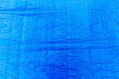 Background Blue Wet Tarpaulin Stock Image