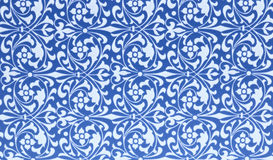 Background of blue and white patterns Royalty Free Stock Images