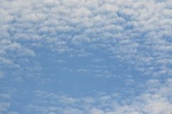 Background of blue and white sky. Southern Bohemia, Czech Republic Royalty Free Stock Image