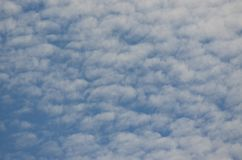 Background of blue and white sky. Southern Bohemia, Czech Republic Stock Photos
