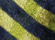 Blue and yellow shards Royalty Free Stock Photo