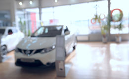Background blur car showroom Stock Image