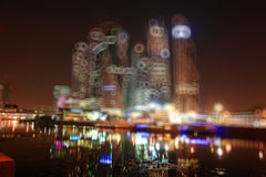 Background blur city with skyscrapers Royalty Free Stock Photo