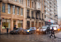 Background blur city streets without focus Royalty Free Stock Image