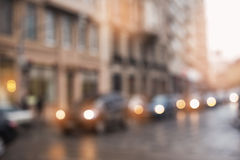 Background blur city streets without focus Stock Photos