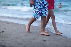 Background blur defocus beach sea people bathe Stock Photography