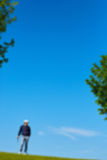 Background blur. Golf is a popular sport. Of men Stock Photography