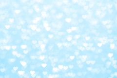 Background blur heart blue beautiful romantic, glitter bokeh lights heart soft pastel shade, heart background colorful blue for ha. Blur heart blue background royalty free stock photo