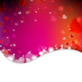Background From Blur And Hearts Stock Photography
