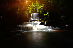 Background blur Mandang waterfall in Thailand.And popular with t. Background blur and soft focus Mandang waterfall in Thailand.And popular with tourists and stock photo