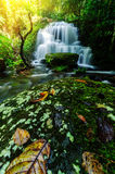 Background blur Mandang waterfall in Thailand.And popular with t. Background blur and soft focus Mandang waterfall in Thailand.And popular with tourists and stock photos