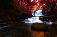 Background blur Mandang waterfall in Thailand.And popular with t. Ourists and photographers royalty free stock photo