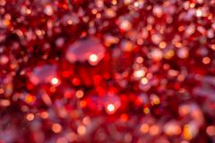 Background blur texture of glitter bokeh, violet, yellow, pink, six sides, round. Defocused abstract stock illustration