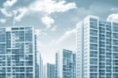 Background blurred building with sky, clouds Stock Photography