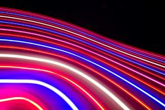 An interesting creative background with multicolored stripes created by LEDs. Background with blurred lines, creative background stock photos