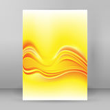 Background blurry yellow lines layout cover page A4 Royalty Free Stock Photo