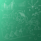 Background board with graphs vector illustration