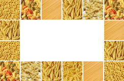 Background board from raw pasta Royalty Free Stock Photo