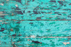 Background from boards painted in turquoise color Royalty Free Stock Image