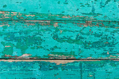 Background from boards painted in turquoise color Royalty Free Stock Photos