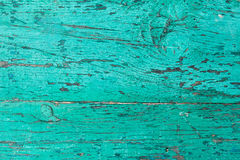 Background from boards painted in turquoise color Royalty Free Stock Images