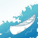 Background with boat. Royalty Free Stock Photo