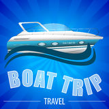 Background for boat trip, travel Stock Image