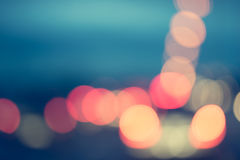 Background bokeh and bright car light Stock Image