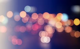 Background bokeh circle is abstract. Sparkling glitter Christmas Stock Photography
