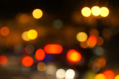 Background Bokeh. Close view of background bokeh of city light stock photo