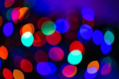 Background with bokeh and colorful lights royalty free illustration