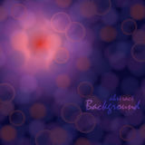 Background with bokeh effect. Vector abstract background with bokeh effect on purple backdrop and red shine Stock Image