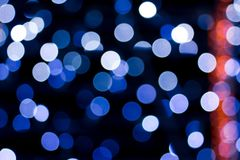 Background of a bokeh garland Stock Image