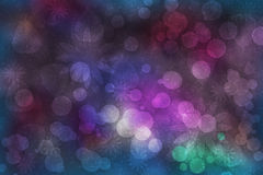 Background bokeh, leaves and flowers Stock Photo