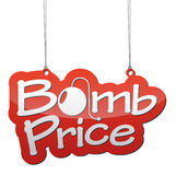 Background bomb price Stock Photo