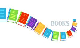 Background with books. Education or bookstore illustration in flat design style Royalty Free Stock Images