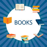 Background with books set Royalty Free Stock Photography