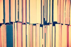 Background of  books view from the side. Background of  books, view from the side Stock Photo