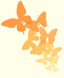Background with a border of butterflies flying. Royalty Free Stock Photos